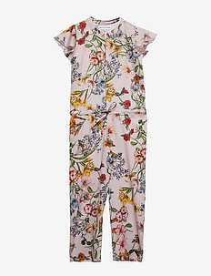 Jumpsuit No. 604 - PALE ROSE MULTI FLOWER