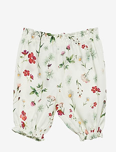 Pants No. 833 - WHITE MULTI FLOWER
