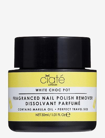 Ciaté Choc Pot conditioning nail polish remover - nagellacksborttagning - white chocolate