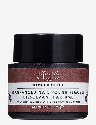 Ciaté Choc Pot conditioning nail polish remover - nagellacksborttagning - dark chocolate