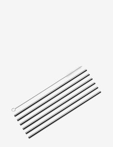 Straws STEEL 6 pcs. w/cleaning brush - under 300 kr - stainless steel