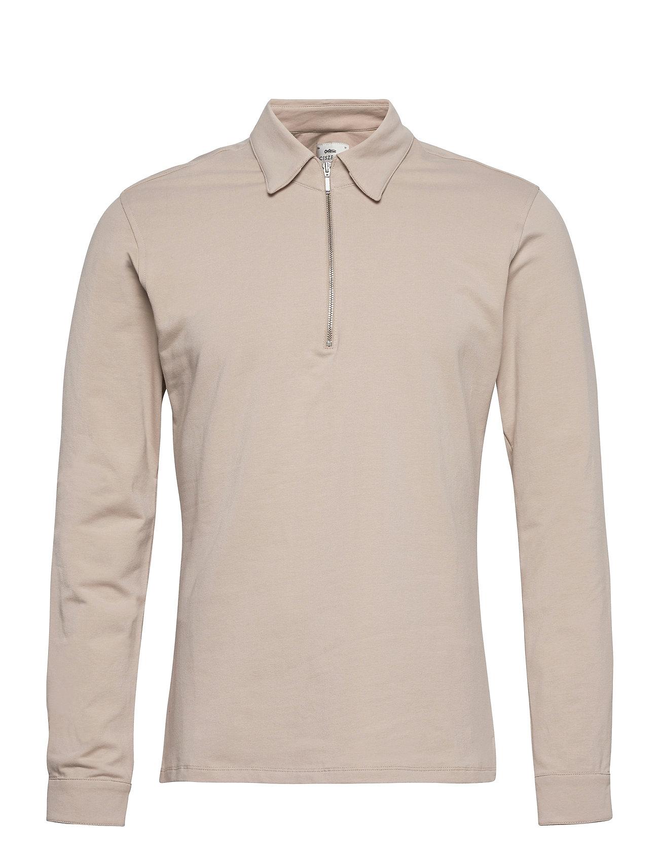 Image of Dev Half Zip Shirt Skjorte Casual Beige Ciszere (3488472299)