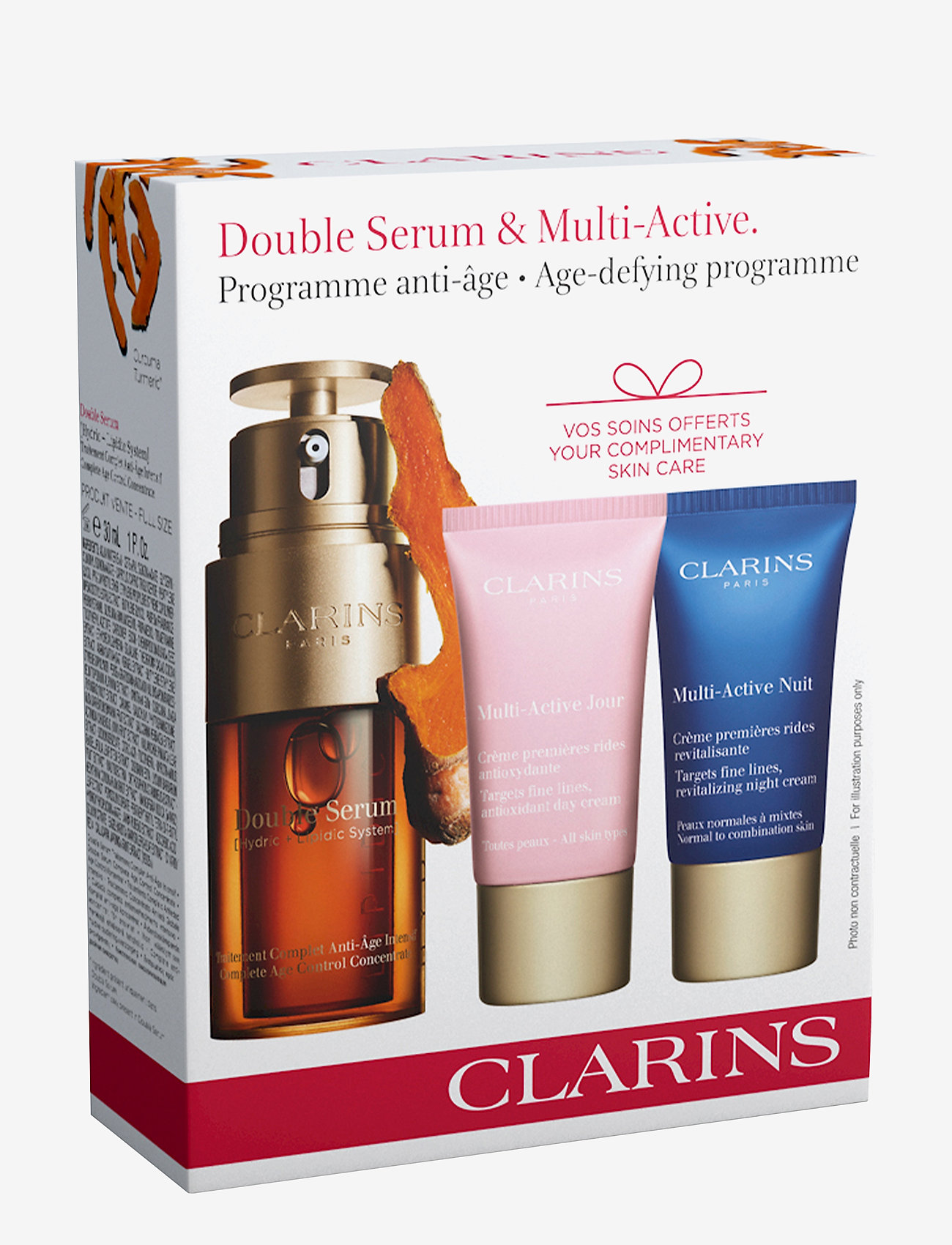 Clarins - DOUBLE SERUM 30ML DOUBLE SERUM/15ML MULTI DAY/15ML MULTI NIG - ihonhoitosetit - no color - 1