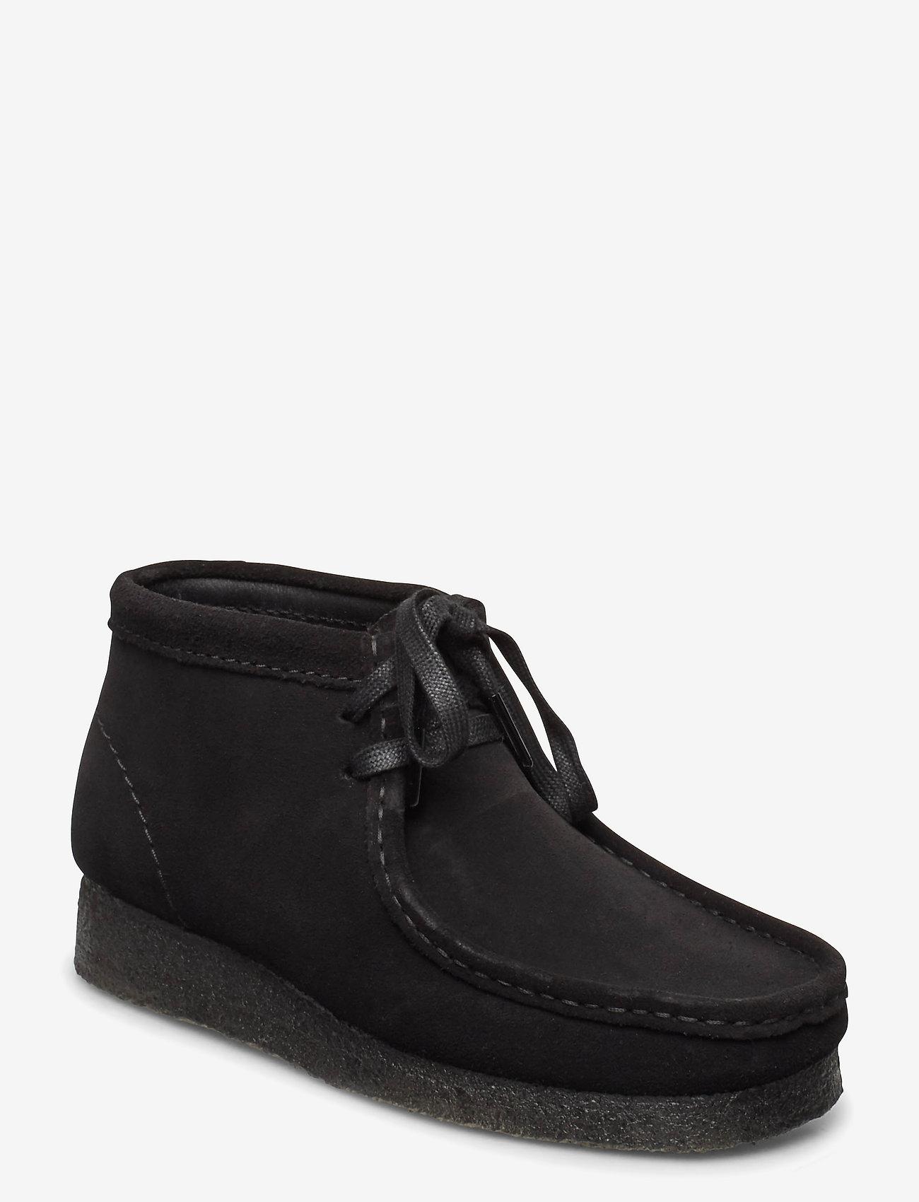 Clarks Originals - Wallabee Boot. - platta ankelboots - black sde - 0