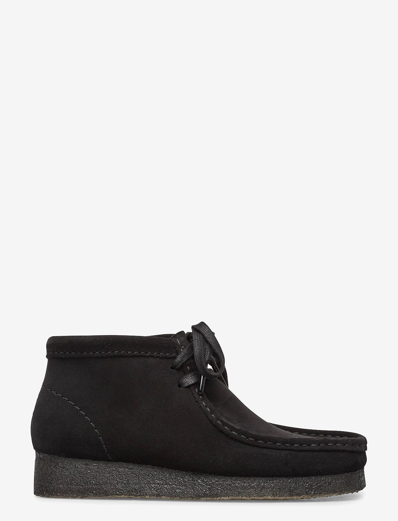 Clarks Originals - Wallabee Boot. - platta ankelboots - black sde - 1