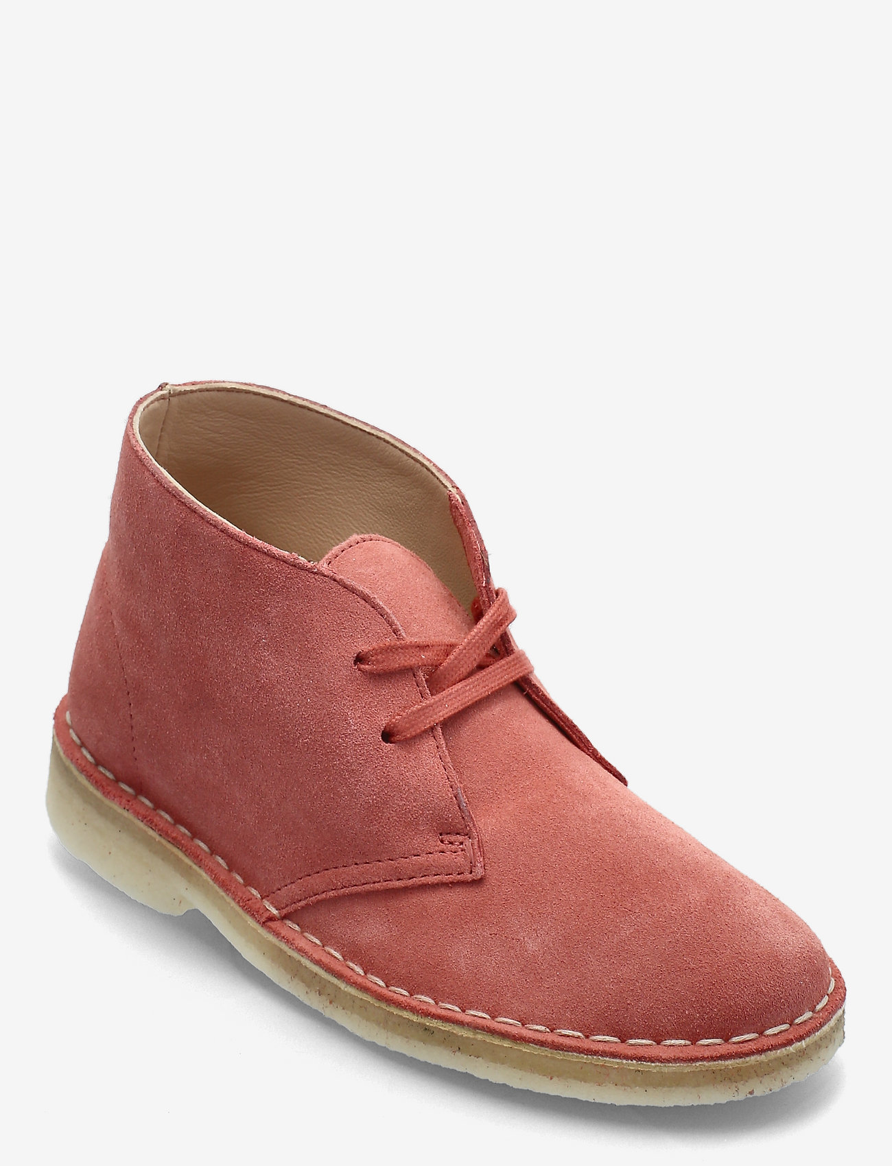 Clarks Originals - Desert Boot. - platta ankelboots - dark blush sde - 0