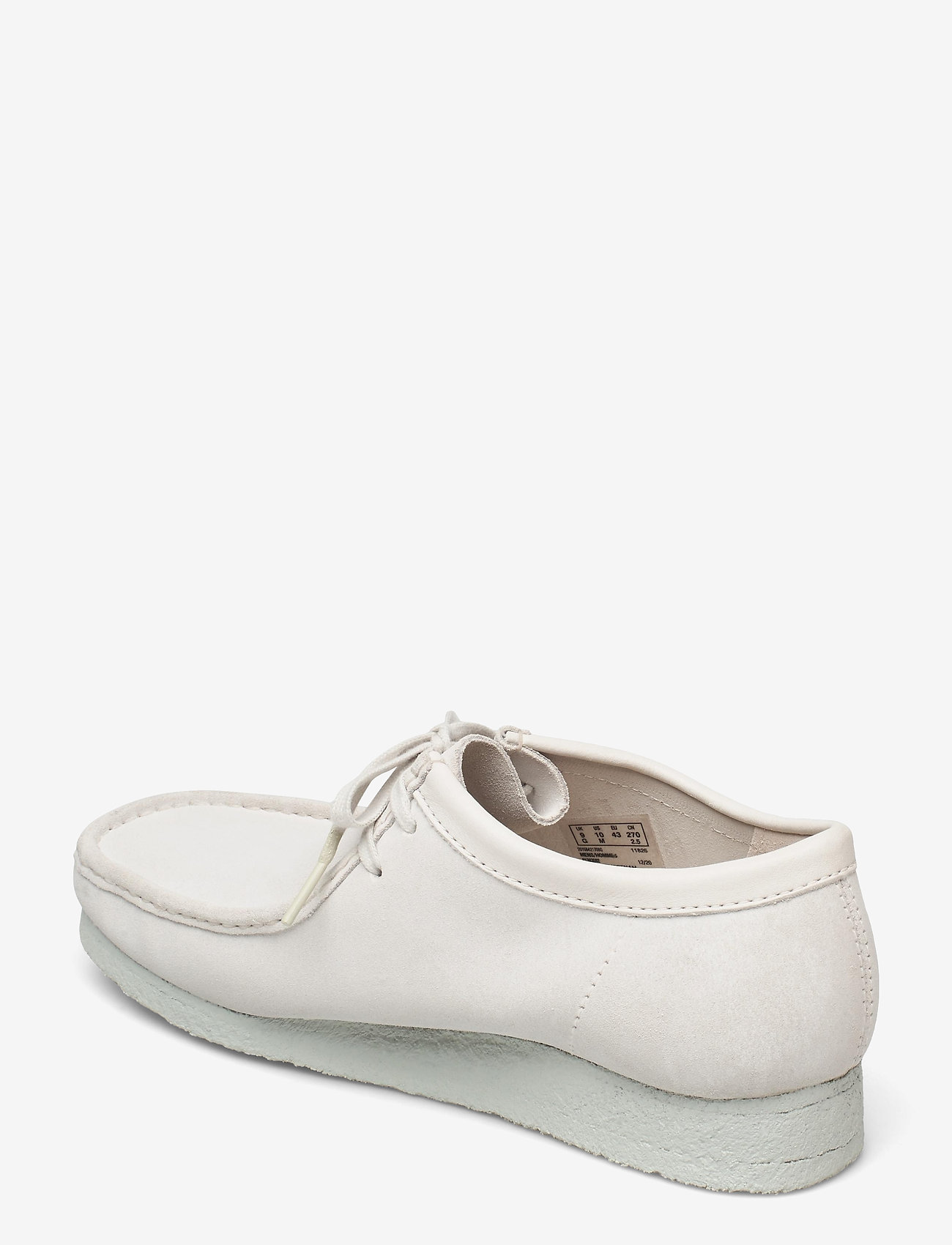 Clarks Originals - Wallabee - skor - white suede - 2