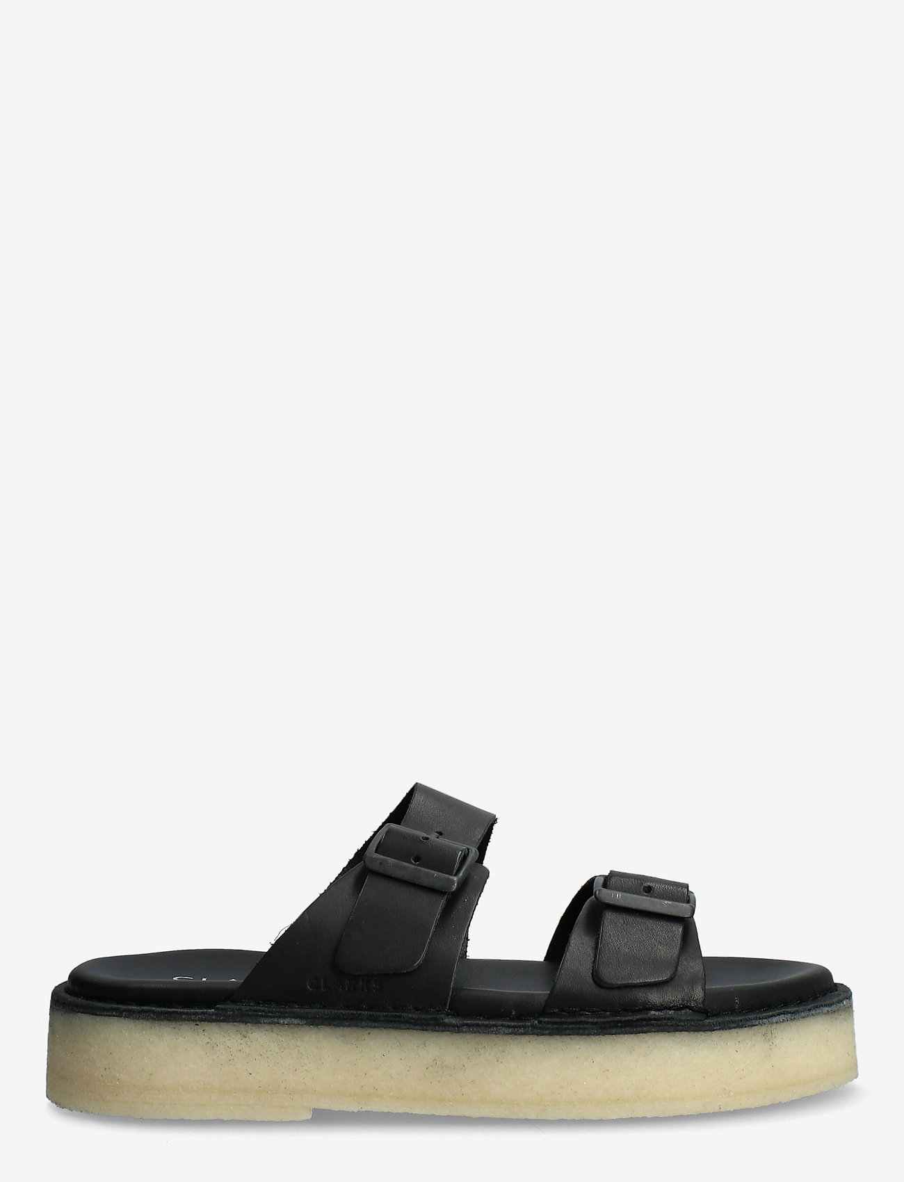 Clarks Originals - Desert Sndl - platta sandaler - black leather - 1