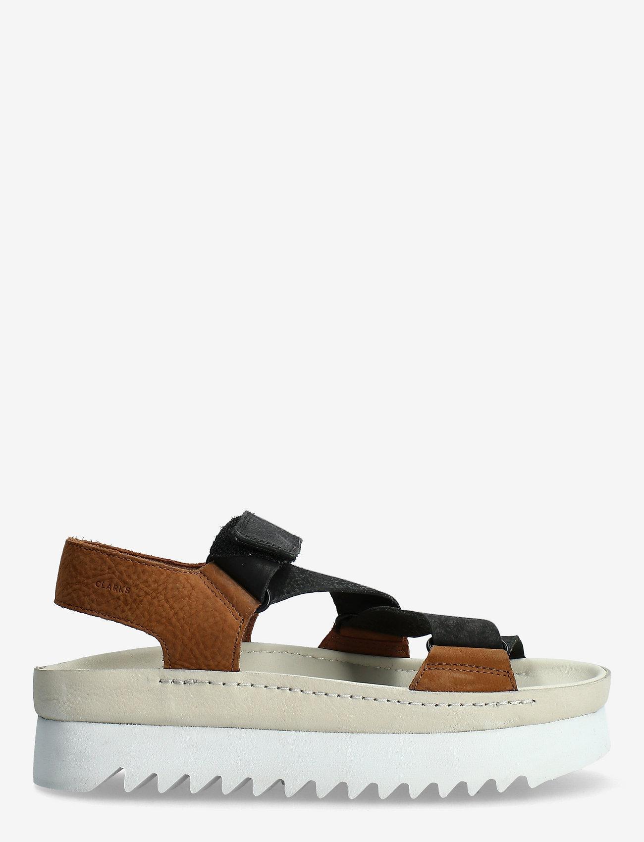 Clarks Originals - Ranger Elvtd - platta sandaler - brown combi - 1
