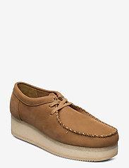 Clarks Originals - Wallacraft Lo - buty sznurowane - oak nubuck - 0