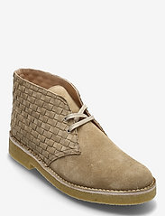 Clarks Originals - Desert Boot221 - kängor med snörning - light tan woven - 0