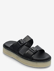 Clarks Originals - Desert Sndl - platta sandaler - black leather - 0