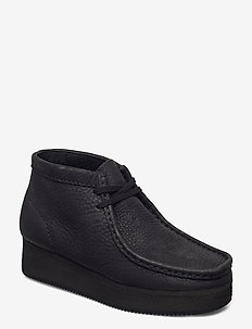 Wallabee Wedge - snøresko - black nubuck