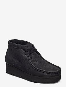 Wallabee Wedge - buty sznurowane - black nubuck