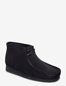 Wallabee Boot - desert boots - black sde