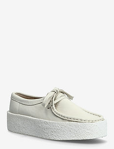 Wallabee Cup - loafers - white nubuck
