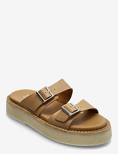 Desert Sndl - platta sandaler - tan leather
