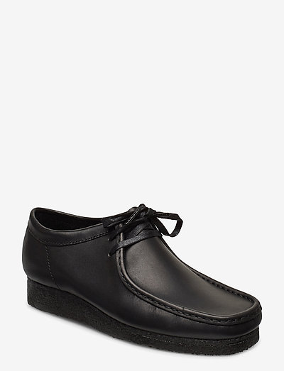 Wallabee - snörskor - black leather