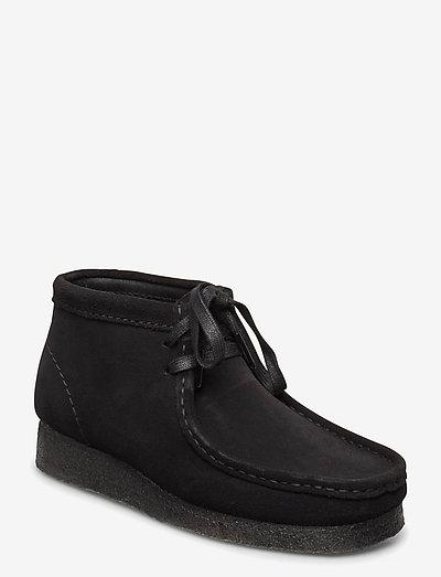 Wallabee Boot. - platta ankelboots - black sde