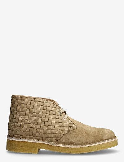 Desert Boot221 - kängor med snörning - light tan woven