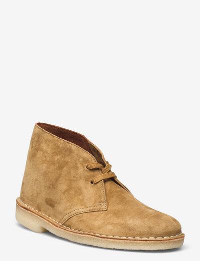 Desert Boot - platta ankelboots - tan suede