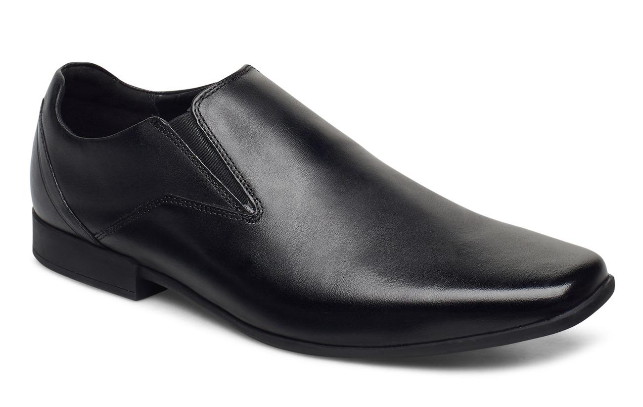 Clarks Glement Slip (Black Leather