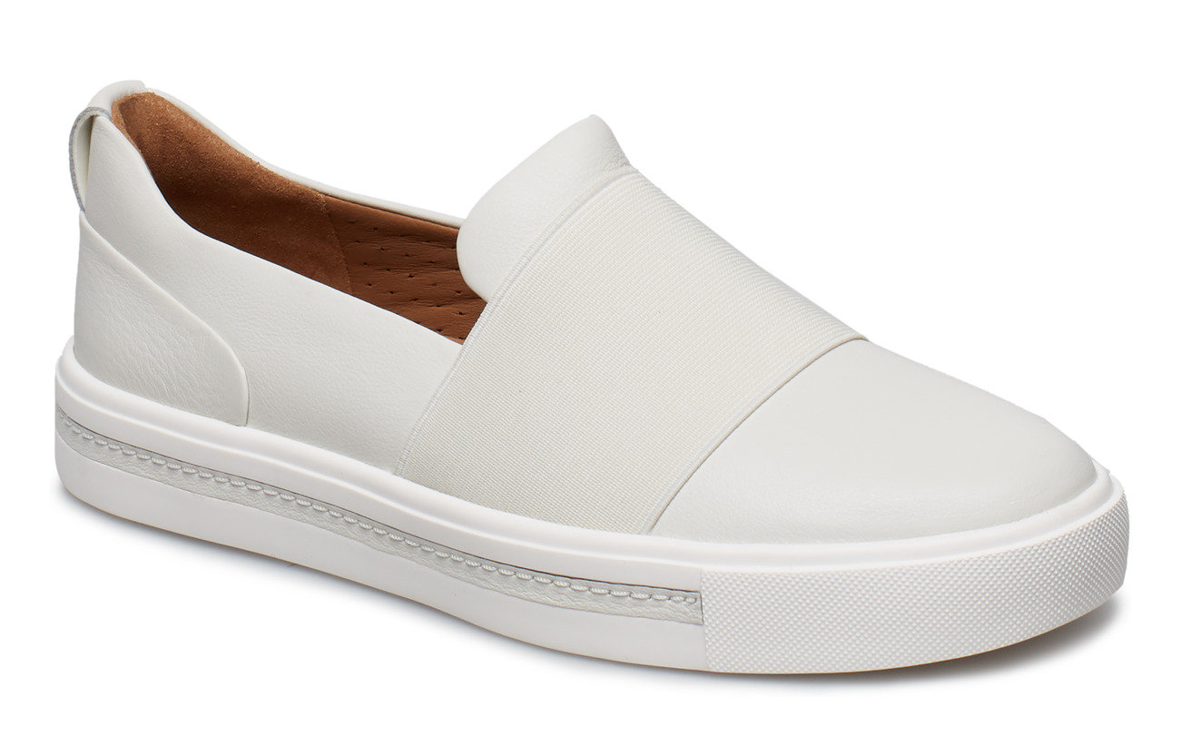 Clarks Un Maui Step - WHITE LEATHER
