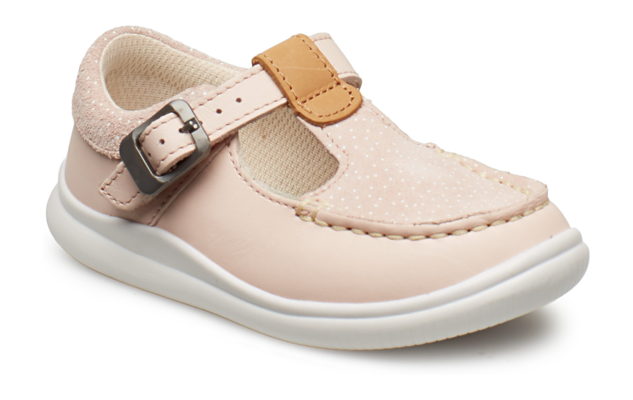 Clarks Cloud Rosa T - PINK LEATHER