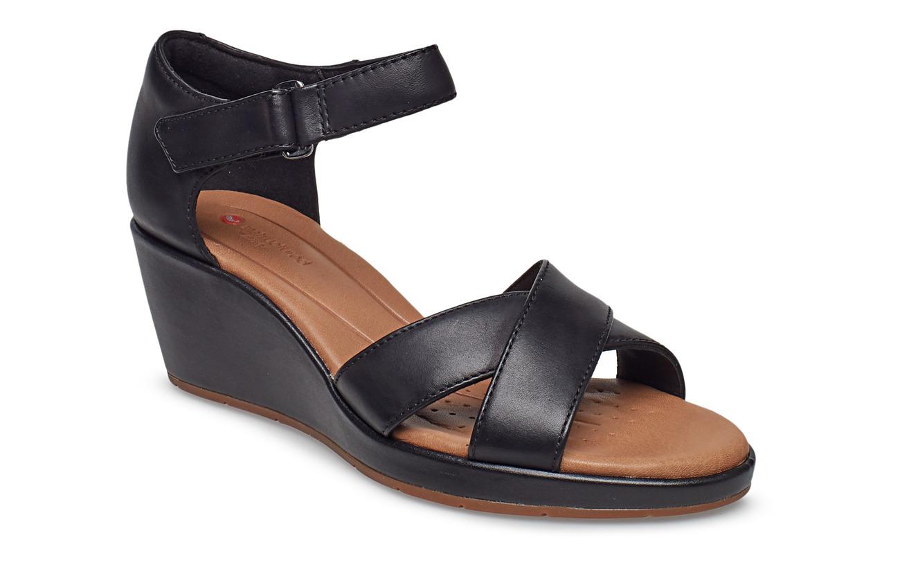 49543f239cd Un Plaza Cross (Black Leather) (130 €) - Clarks -
