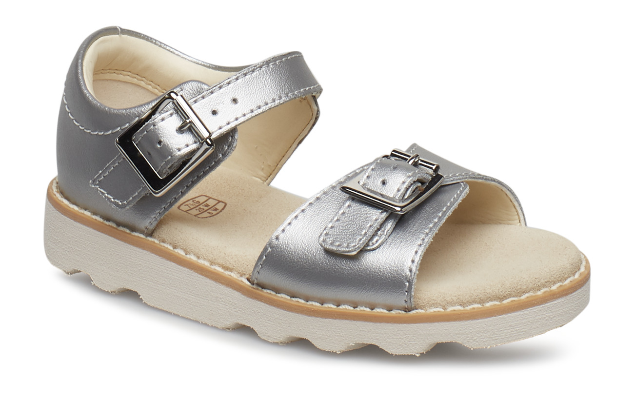 Clarks Crown Bloom T - SILVER LEATHER