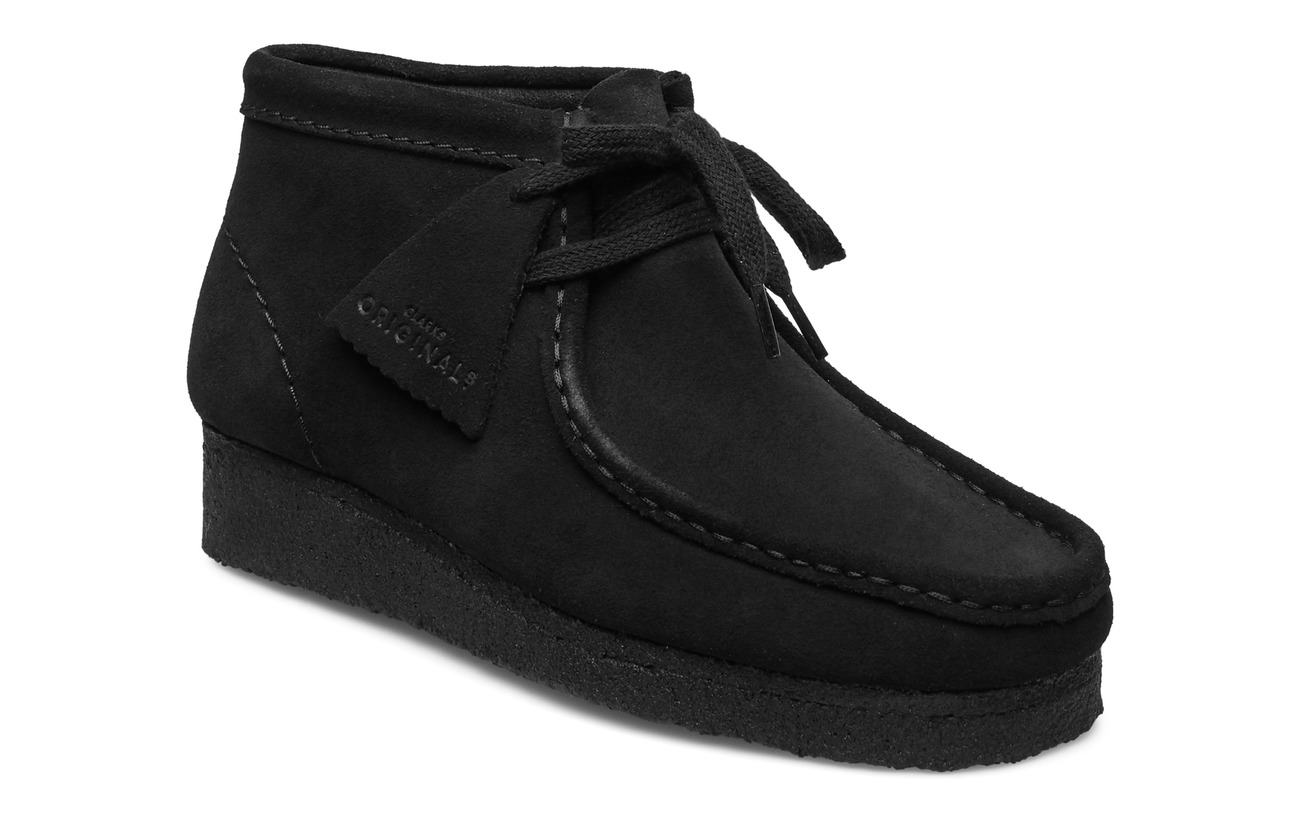 Clarks Wallabee Boot. - BLACK SDE