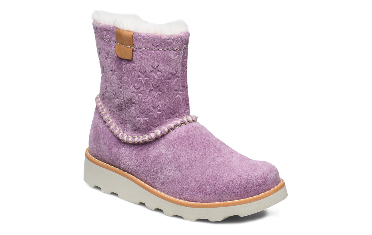 Clarks Crown Piper K - LILAC SUEDE