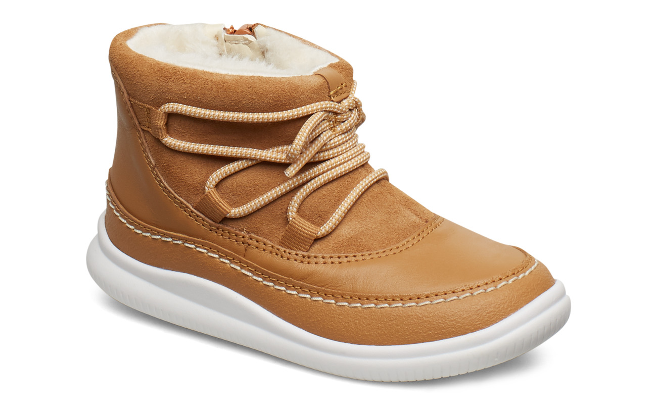 Clarks Cloud Alpine T - TAN COMBI LEA