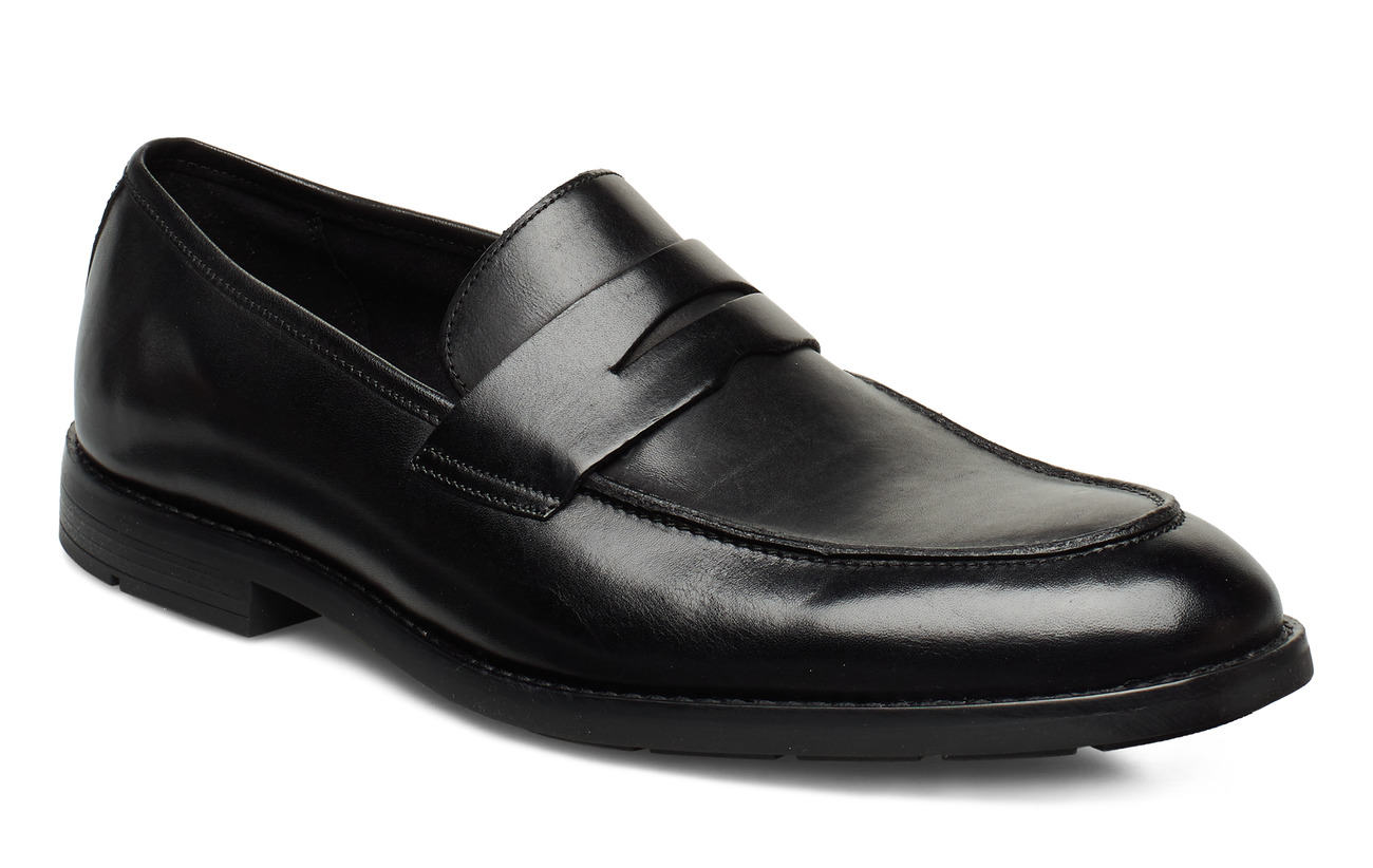 Clarks Ronnie Step - BLACK LEATHER