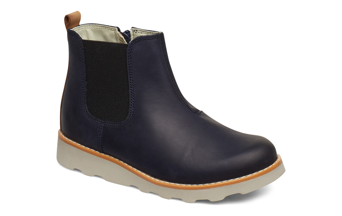 Clarks Crown Halo K - NAVY LEATHER