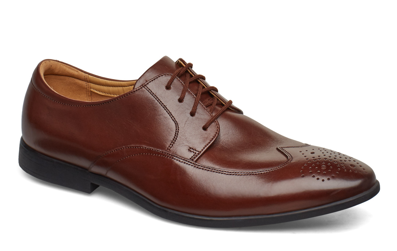 Clarks Bampton Wing - MAHOGANY LEATHER