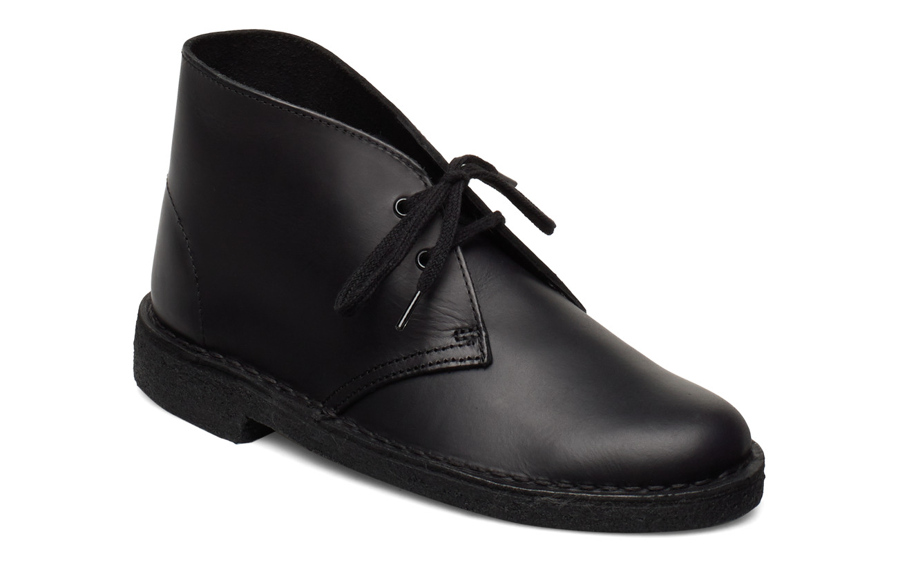 Clarks Desert Boot. - BLACK LEATHER