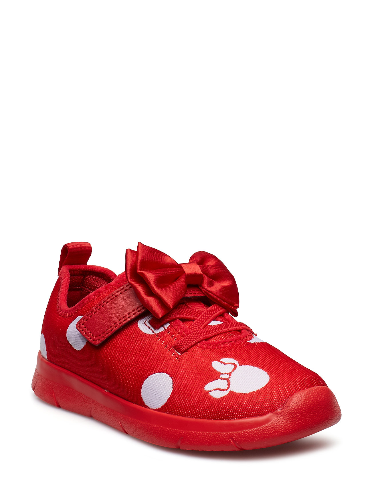 Clarks Ath Bow T - RED COMBI