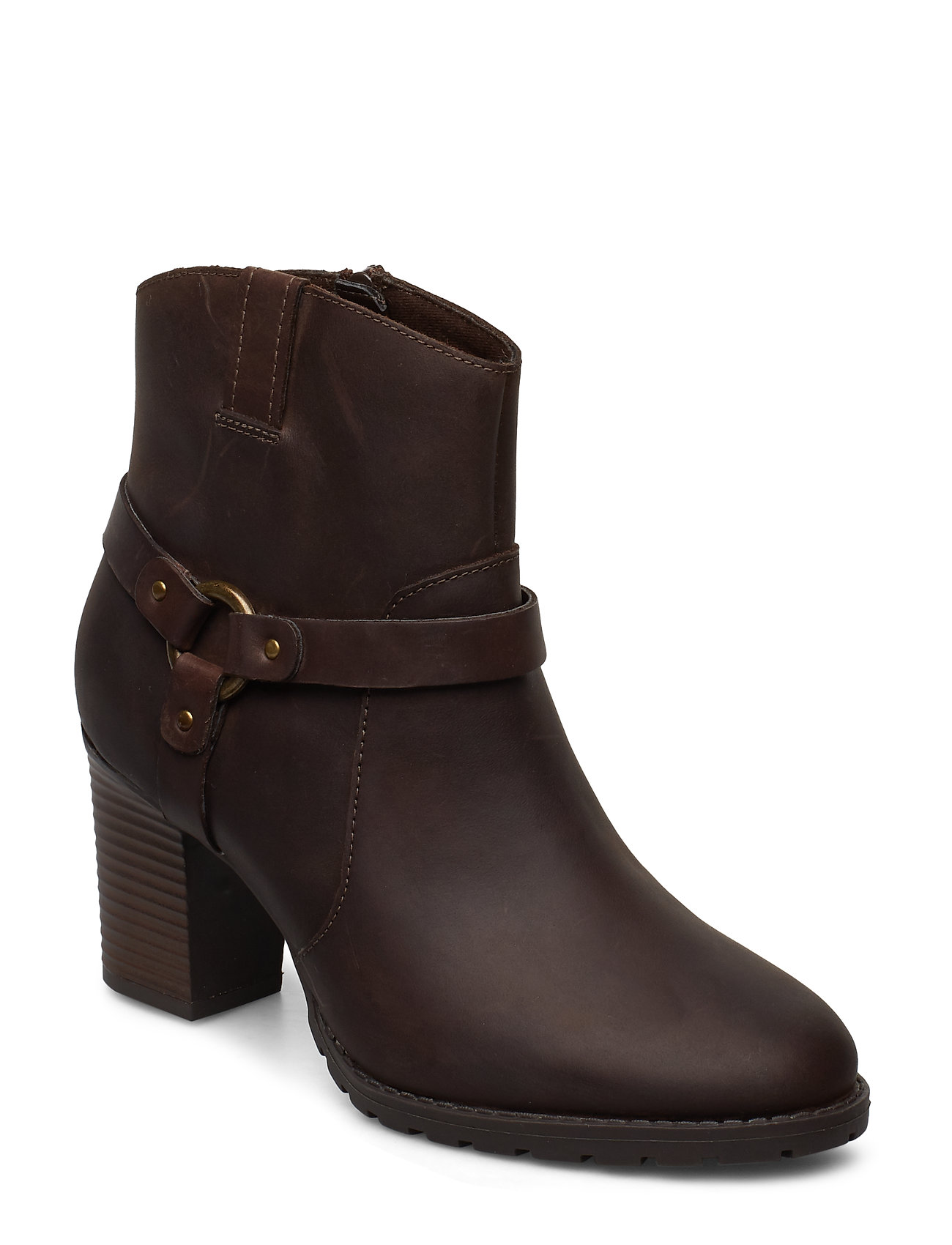 CLARKS Verona Rock Shoes Boots Ankle Boots Ankle Boots With Heel Braun CLARKS
