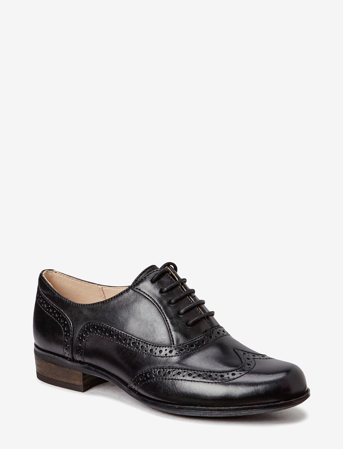 Clarks - Hamble Oak - buty sznurowane - black leather - 0