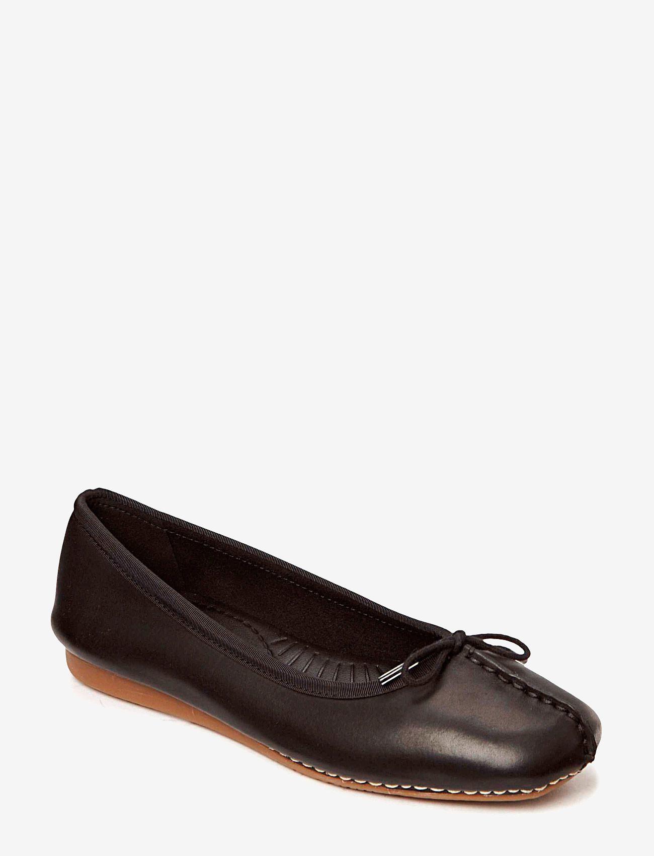 Clarks - Freckle Ice - ballerinaer - black leather - 0