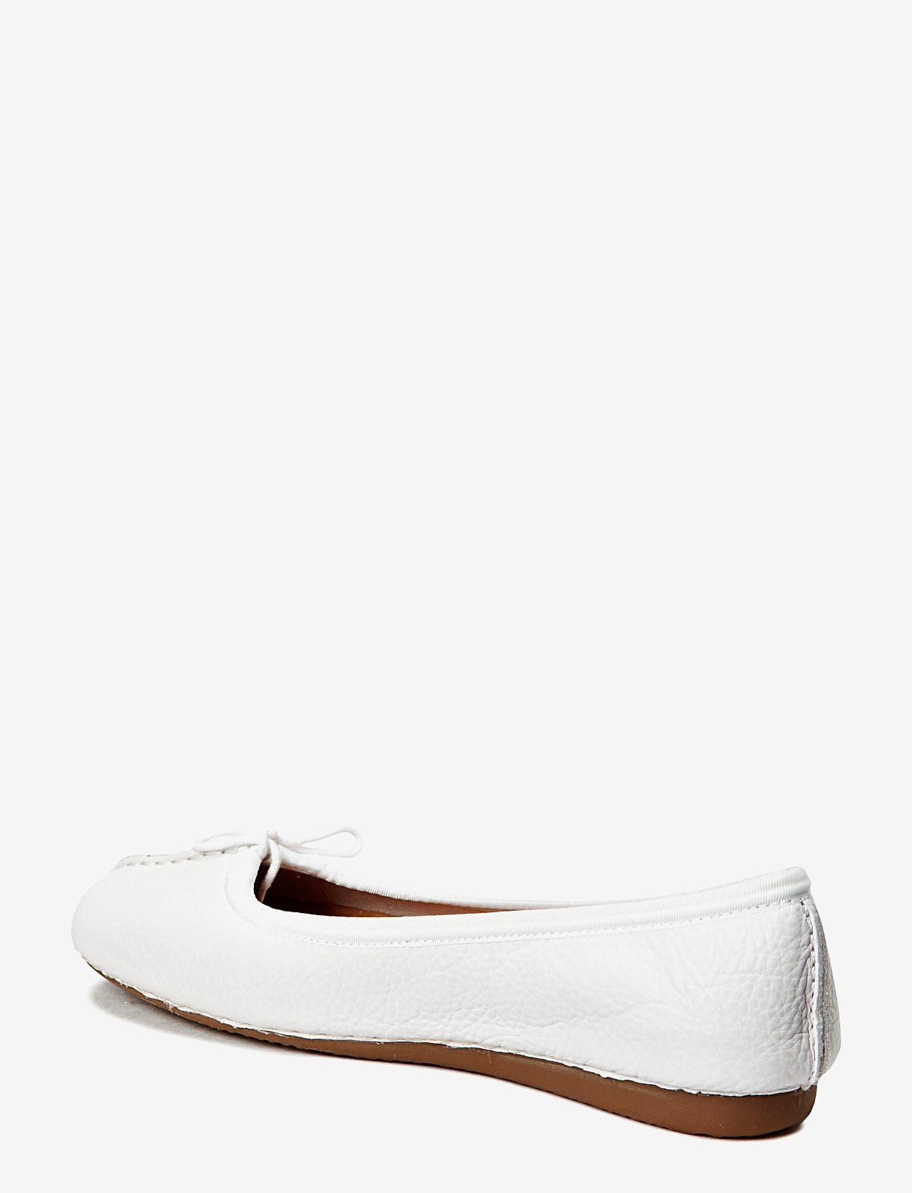 Clarks - Freckle Ice - ballerinas - white leather