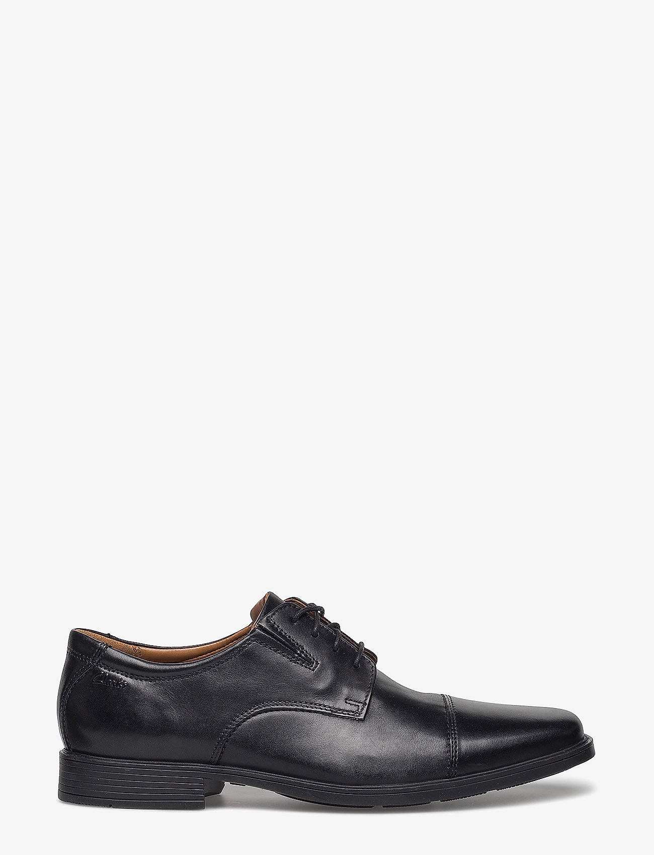 Clarks - Tilden Cap - snøresko - black leather - 1