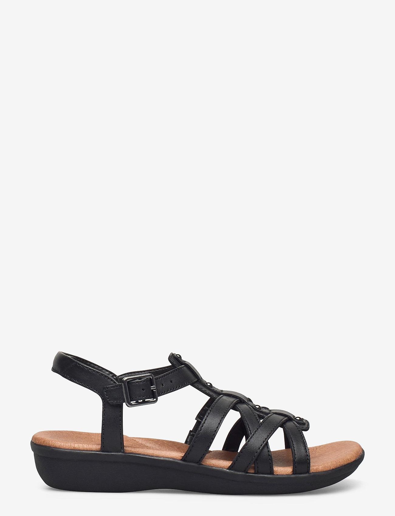 Clarks - Manilla Bonita - platta sandaler - black leather - 1