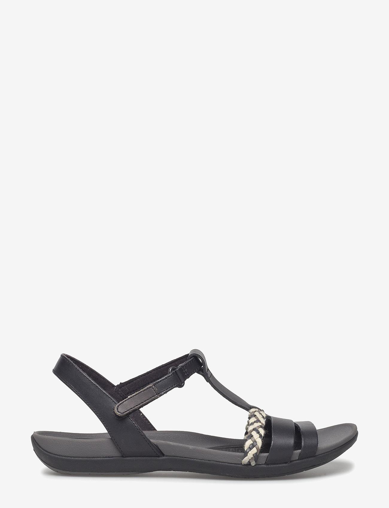 Clarks - Tealite Grace - platta sandaler - black leather - 1