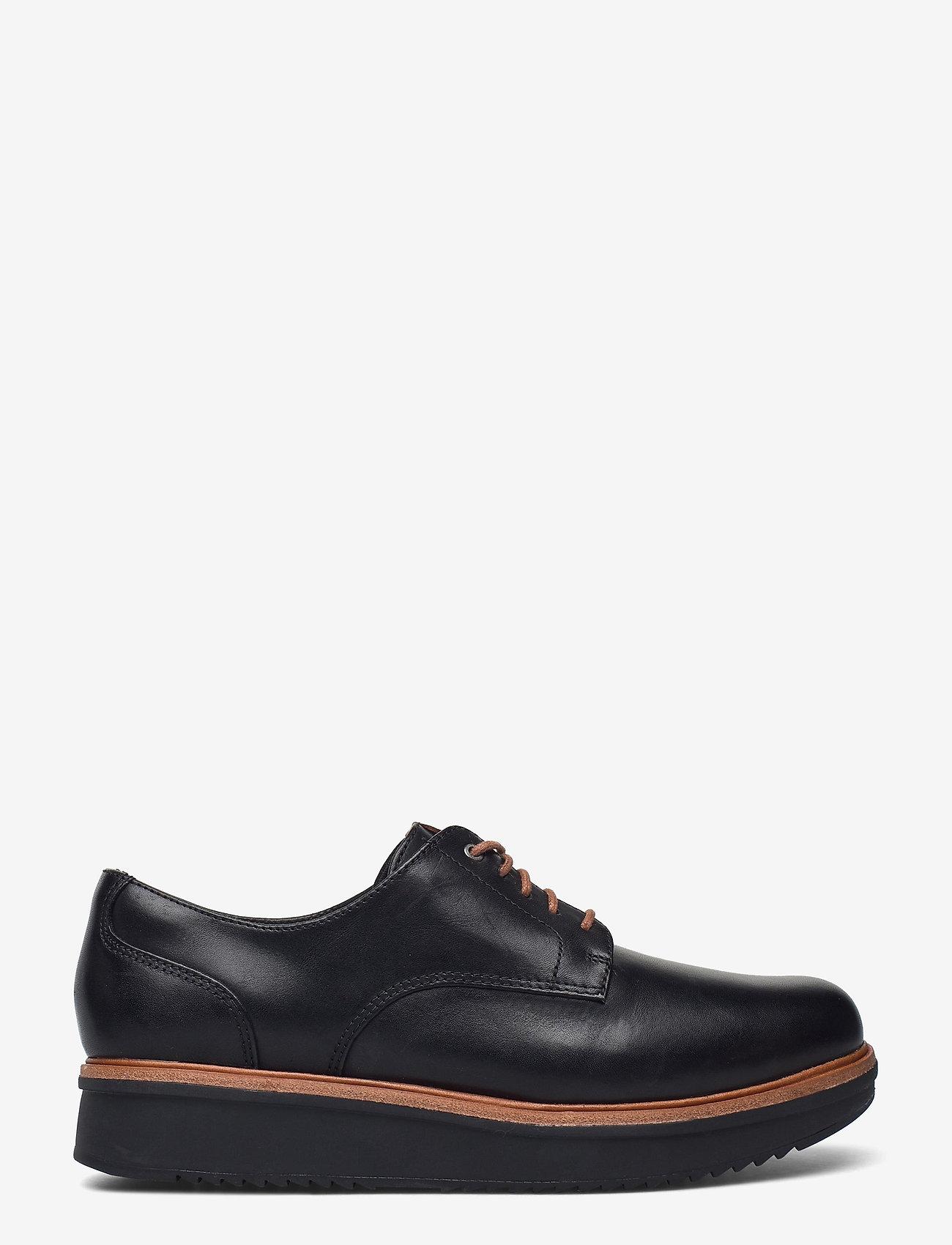 Clarks - Teadale Rhea - snörskor - black leather - 1