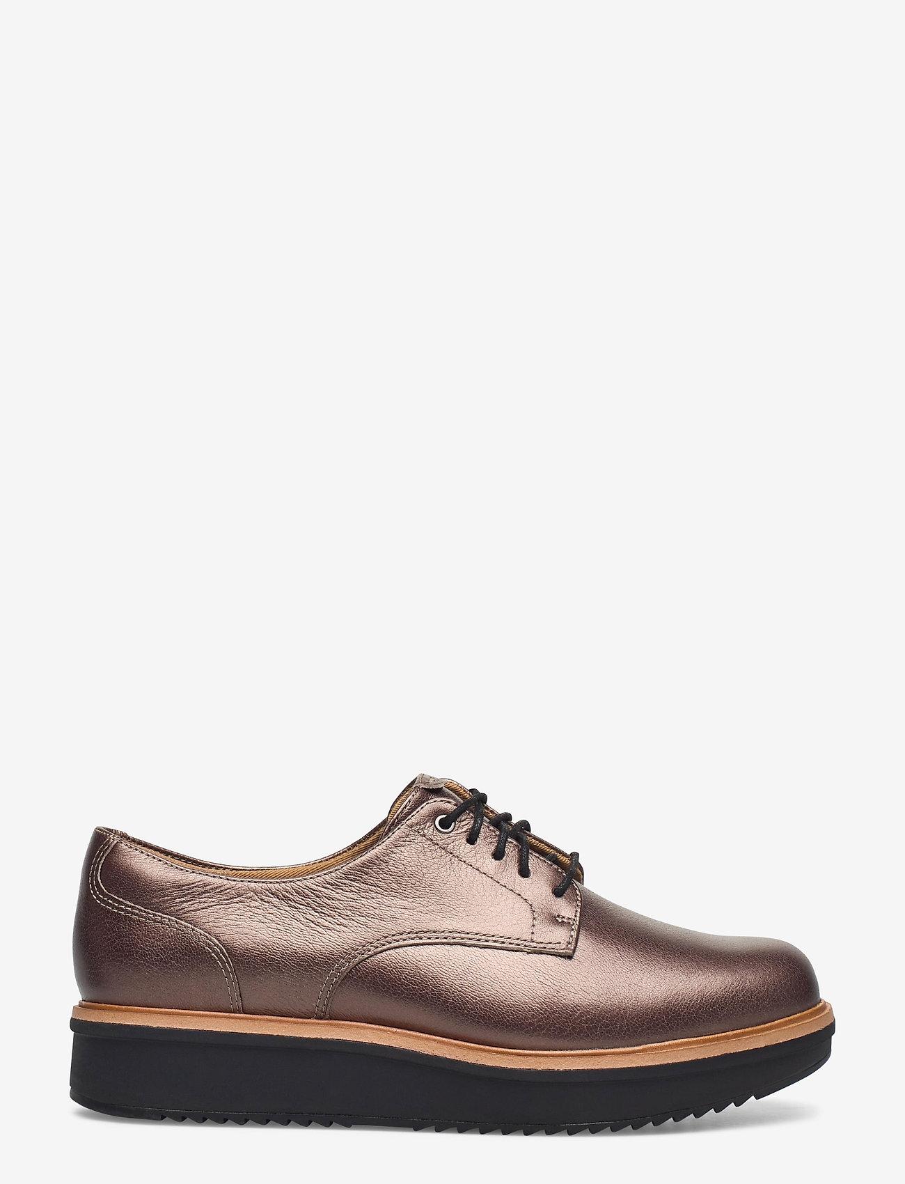 Clarks - Teadale Rhea - schnürschuhe - pewter leather - 1