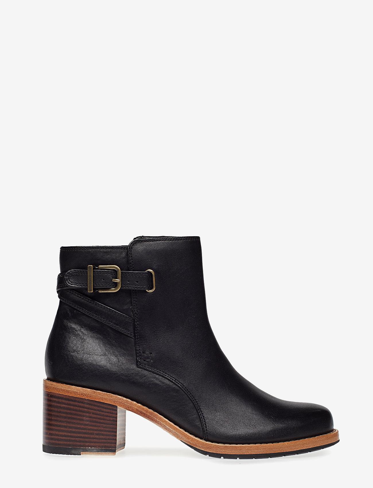 Clarks - Clarkdale Jax - ankelstøvler med hæl - black leather - 1