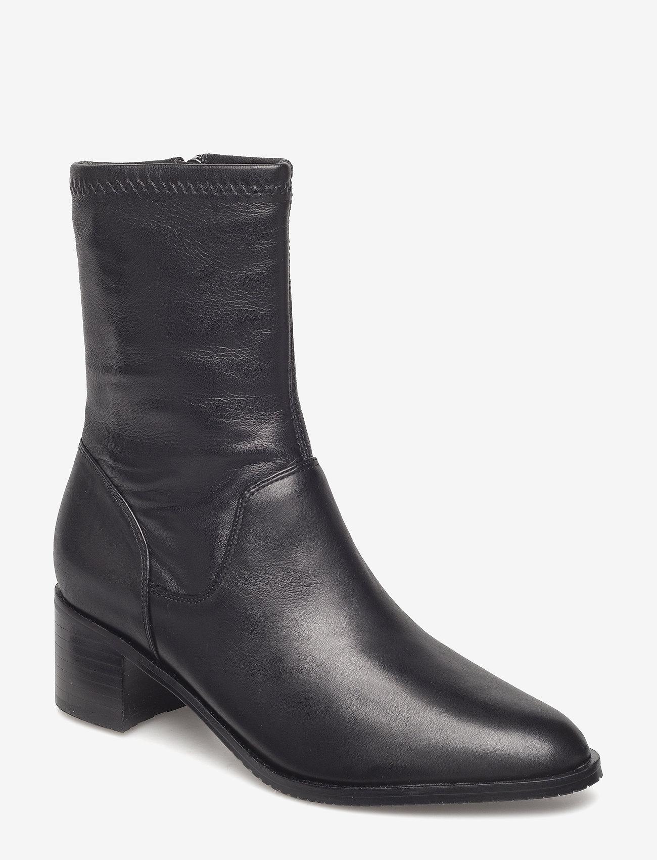 Clarks - Poise Leah - ankelstøvler med hæl - black leather - 0