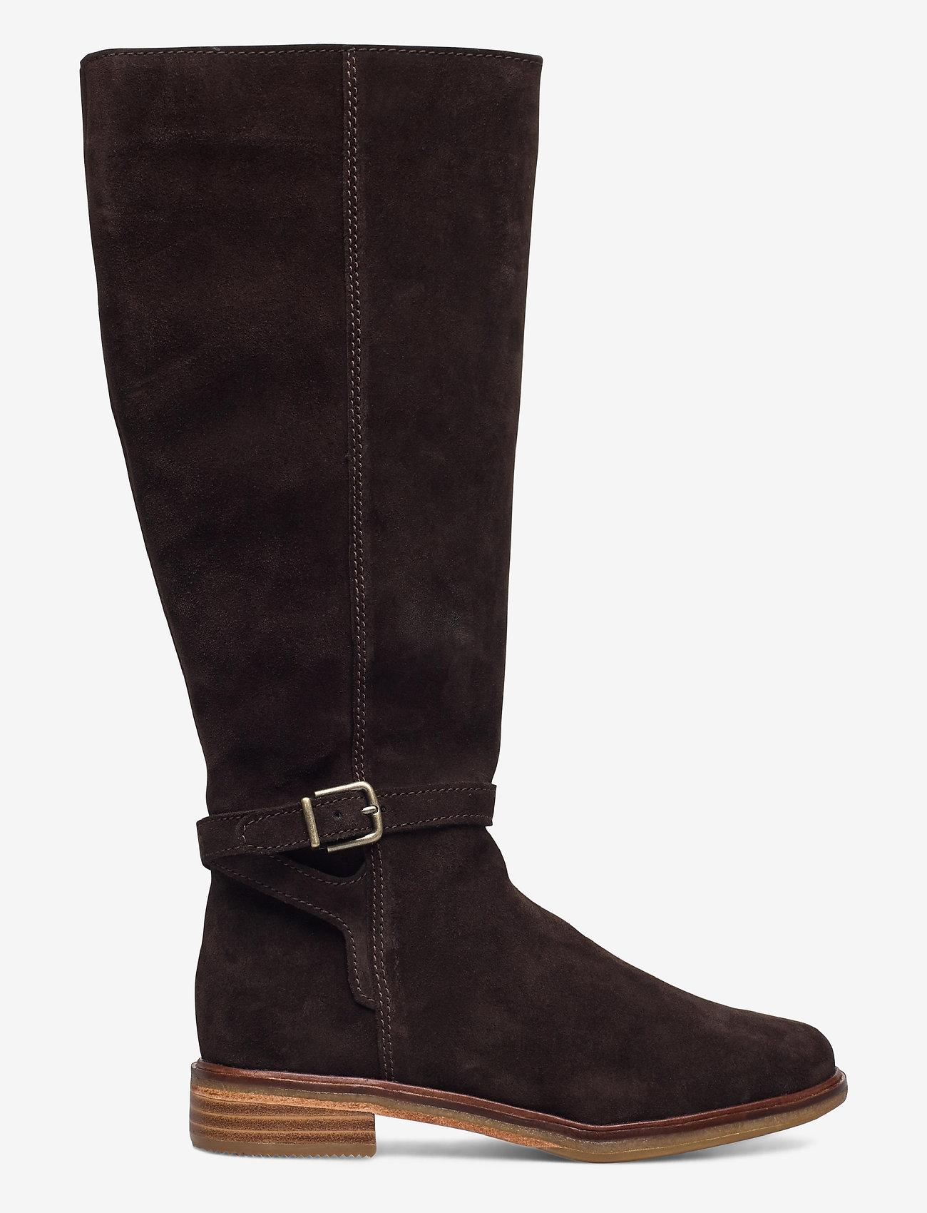 Clarks - Clarkdale Clad - lange laarzen - dark brown suede - 1